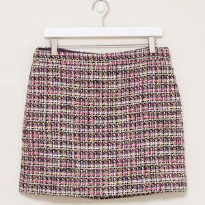 J Crew Factory Metallic Tweed Skirt 10